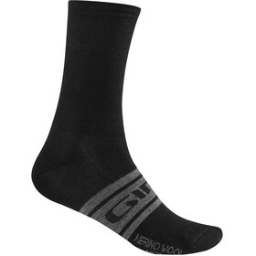 Giro Seasonal Merinovillasukat, black/charcoal clean